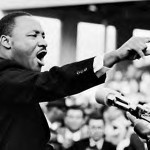 Martin Luther King Jr. at a Rally