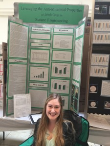 Lauren Enten at the Science Fair