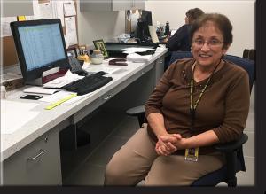 Mrs. Carol Bergen in her office