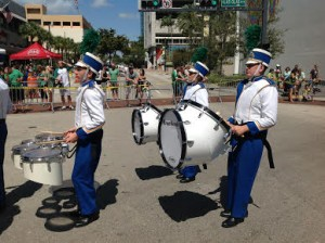STA Marching Raiders with their new ErgoSonic drums
