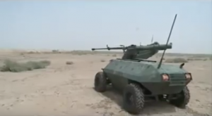 Alrobot prepares a test fire Source: Iraqi military robot video