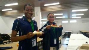 Members enjoying their waffles