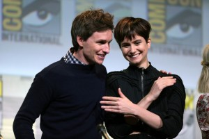 Actors Eddie Redmayne and Katherine Waterson at Comic- Con