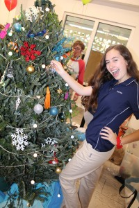 Getting into the Christmas spirit at the Christmas Tree Decorating Competition!