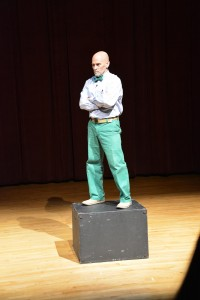 Mr. Seeger taking a stance during his performance